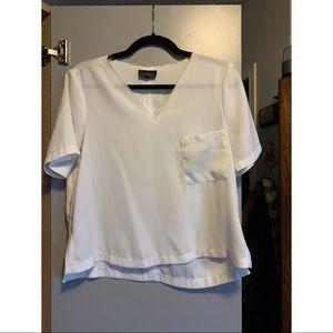 TOPSHOP PETITE v-neck blouse
